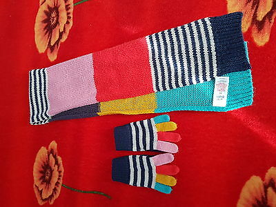 mini boden girl scarf and mittens size xs (4-5)