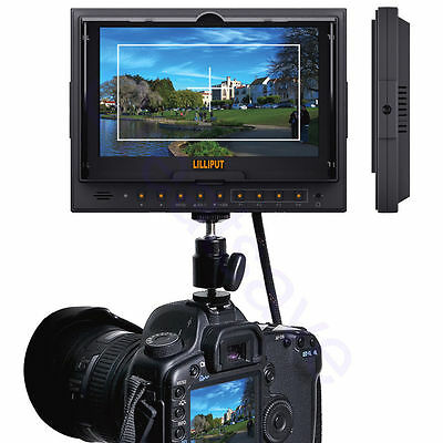 "Lilliput 7"" 5D II/0 7 Inch Lcd Hd Field Monitor Canon 5D SONY DSLR NEW MODEL UK"