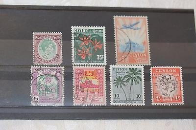 Ceylon = card of stamps - lot 333
