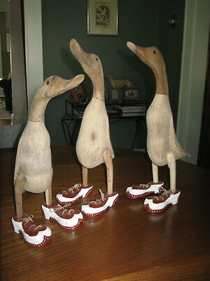 Whimsical garden ducks in shoes cute as can be 3 lot