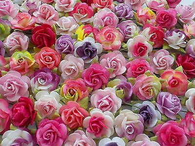100! Large Mulberry Paper Roses - Gorgeous Pink & Purple Rose Mix - 15/20mm