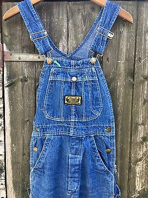 VTG 60s WASHINGTON DEE CEE SANFORIZED DENIM DUNGAREES BIB OVERALLS KIDS SMALL
