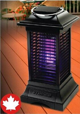 Insect Bug Mosquito Zapper Killer Rechargeable Cordless Black Light Deck Lantern