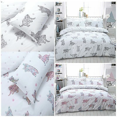 Cat Animal Print Duvet Cover Bedding Quilt Set And Pillowcases All Sizes