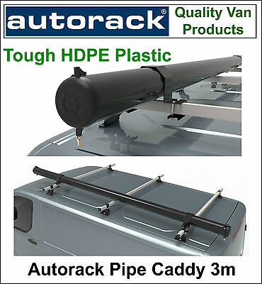 Autorack Pipe Caddy Electrical Conduit Capping HDPE VAN PIPE TUBE CARRIER 3m