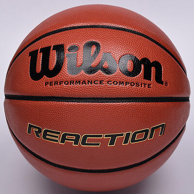 WILSON Reaction Basketball Composite Leather Basketball  Size 7 Indoor / Outdoor