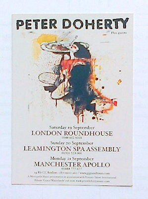 Pete Doherty  Promotional Postcard, Manchester Uk