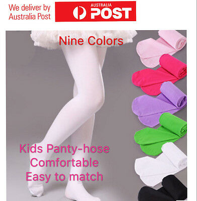 AU 4Size Girls Kids Opaque Tights Stockings Hosiery Pantyhose Dance Ballet Socks