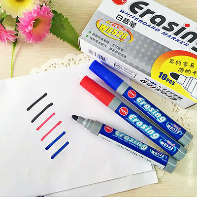 1pc Plastic Black Whiteboard Marker Pen Dry Wipe Dry Erase Erasable Stationery
