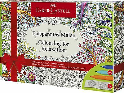 Faber-Castell Malbuchset Colouring for Relaxation inkl. Connector