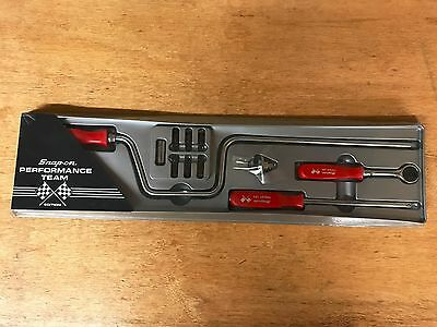 "RARE Snap-On Tools 1/4"" Drive 11 Piece Red Hard Handle Ratchet Set TM741R"
