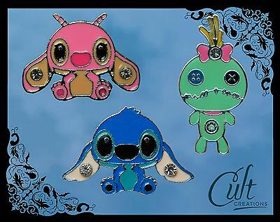 Disney Lilo & Stitch metal and enamel pins / pin badges Choose 1 or set of all 3