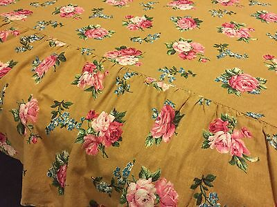 AUTHENTIC FRENCH 1950's BARKCLOTH BEDSPREAD SB