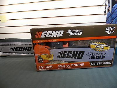 "Echo CS-590 TimberWolf Chainsaw 20"" Bar  59.8cc Engine  NEW in Box"