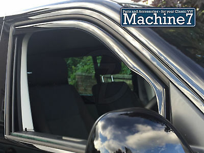 Volkswagen Transporter T6 Door Window Wind Deflectors, Smoked 2015-