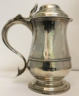 Antique Georgian Silver Belly Tankard - Joseph Bell. 1762. London. - 725g - VGC