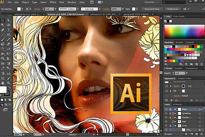 Illustrator & Photoshop CC (2017) Full Version  (download & disc)