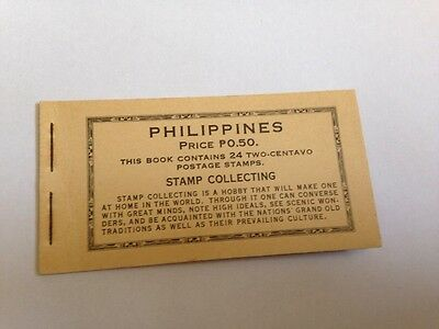 philppines 24x two- centavo postage stamp booklet