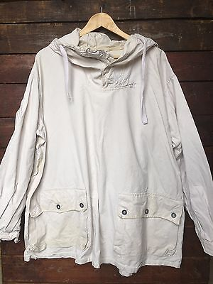 WWII WW2 40s SWEDISH MILITARY WHITE SNOW PULLOVER SMOCK PARKA JACKET L/XL/XXL