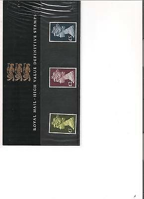1985 Royal Mail Presentation Pack High Value Definitive Pack No 13