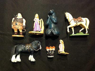 Lot Of 7 Disney Pixar Tangled  Figurines Cake Toppers