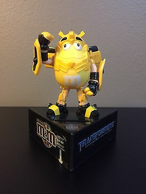 M&M's Yellow Bumblebee Transformers Candy Bank, Unopened