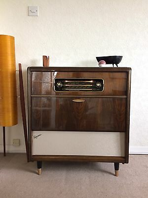 Immaculate Vintage Record Player Stereogram Added Bluetooth 1960s Fully Working