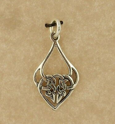 .925 Sterling Silver Celtic Knot Pendant with jump ring Irish charm