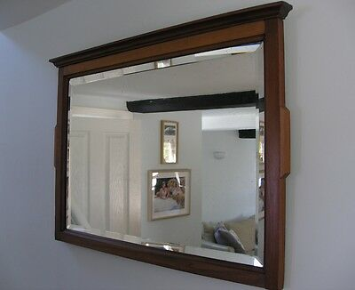 Art Nouveau Satin Wood Wall Mirror 1