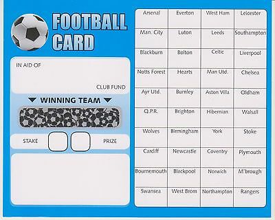 40 football team fundraising scratch cards - 10 - 20 or 50 pack