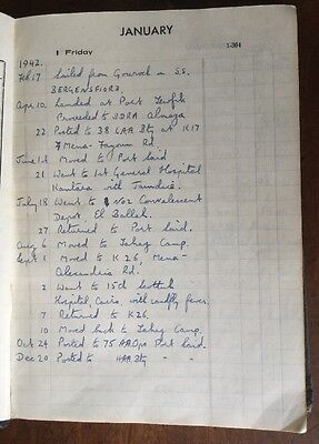 1943 - 8th Army War Diary - Port Said, Cairo, HAA Bty,