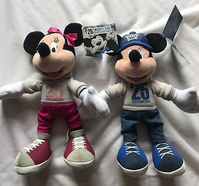 Disneyland Paris 25th Anniversary Mickey And Minnie Mouse Cuddly Toys