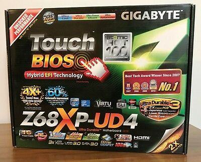 Gigabyte GA-Z68XP-UD4 Motherboard, Socket 1155, Sandy+Ivy Bridge Support, EC!
