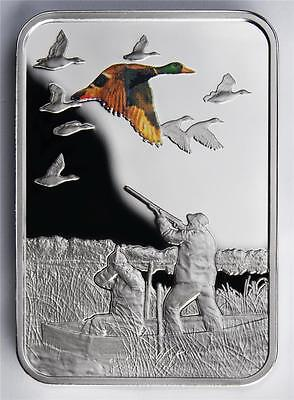 SALE! Malawi 20 Kwacha 2011 Silver Art of Hunting - Duck Huntin