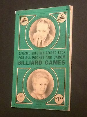 D Official Rule & Record Book Pocket & Carom BILLIARD GAMES 1968 Softcover