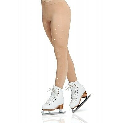 MONDOR FIGURE SKATING TIGHTS FOOTED WITH RHINESTONES 0911 Caramel All Sizes