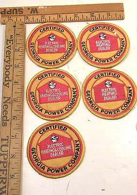 5 Vintage Georgia Power Co Embroidered Twill Clothing Patch Reddy Kilowatt