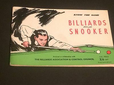 D Know the Game - BILLIARDS AND SNOOKER  Softcover Book 1968