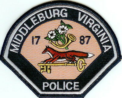 Middleburg Police Patch Virginia VA NEW !!!