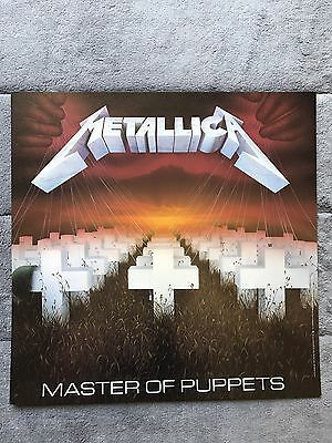 Metallica Master Of Puppets / Ride The Lightning RARE promo 12 x 12 poster flats