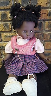 "Vintage 1987 Max Zapf 20"" Felicia 710166 Doll, Vinyl, Cloth, Sleep Eyes, Germany"