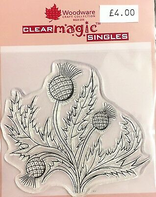 Woodware Clear Magic Thistle stamp JGS159