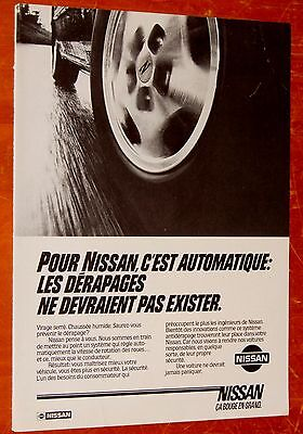 French 1983 Nissan Canadian Ad With 300 Zx In Action - Vintage 80S Old School