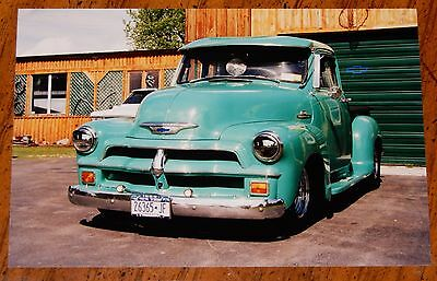 Photo Cool 1954 Chevy Pickup Truck In Upstate Ny In 2002 - Vintage Hot Rod