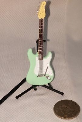 F-Toys Guitar Mono 1:12 scale NOVELTY Stratype Stratocaster Surf Green 1B ##