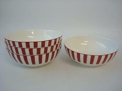 Marks And Spencer Ruby Red 4 X Cereal / Soup / Dessert Bowls