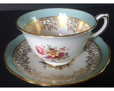 Vintage Hammersley Heavy Gold Lady Patricia Variation Cup And Saucer