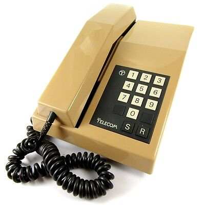 The Rhapsody Vintage BT 1980s Push Button Retro Telephone with Bell Ring