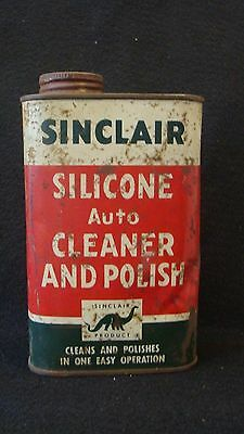 Original 16 oz Sinclair Silicone Auto Cleaner And Polish Metal Can *Gas & Oil