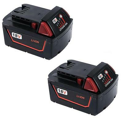 2x For Milwaukee 18V 5.0AH  M18 M18B4 48-11-1828 Red Lithium Ion XC 5.0 Battery